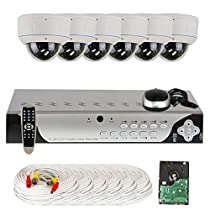 GW Security High End 8 Channel CCTV DVR Surveillance Outdoor or Indoor Security Camera System with 6 High-Resolution 1000TVL Varifocal Zoom Cameras and Pre-Installed 1TB Hard Drive
