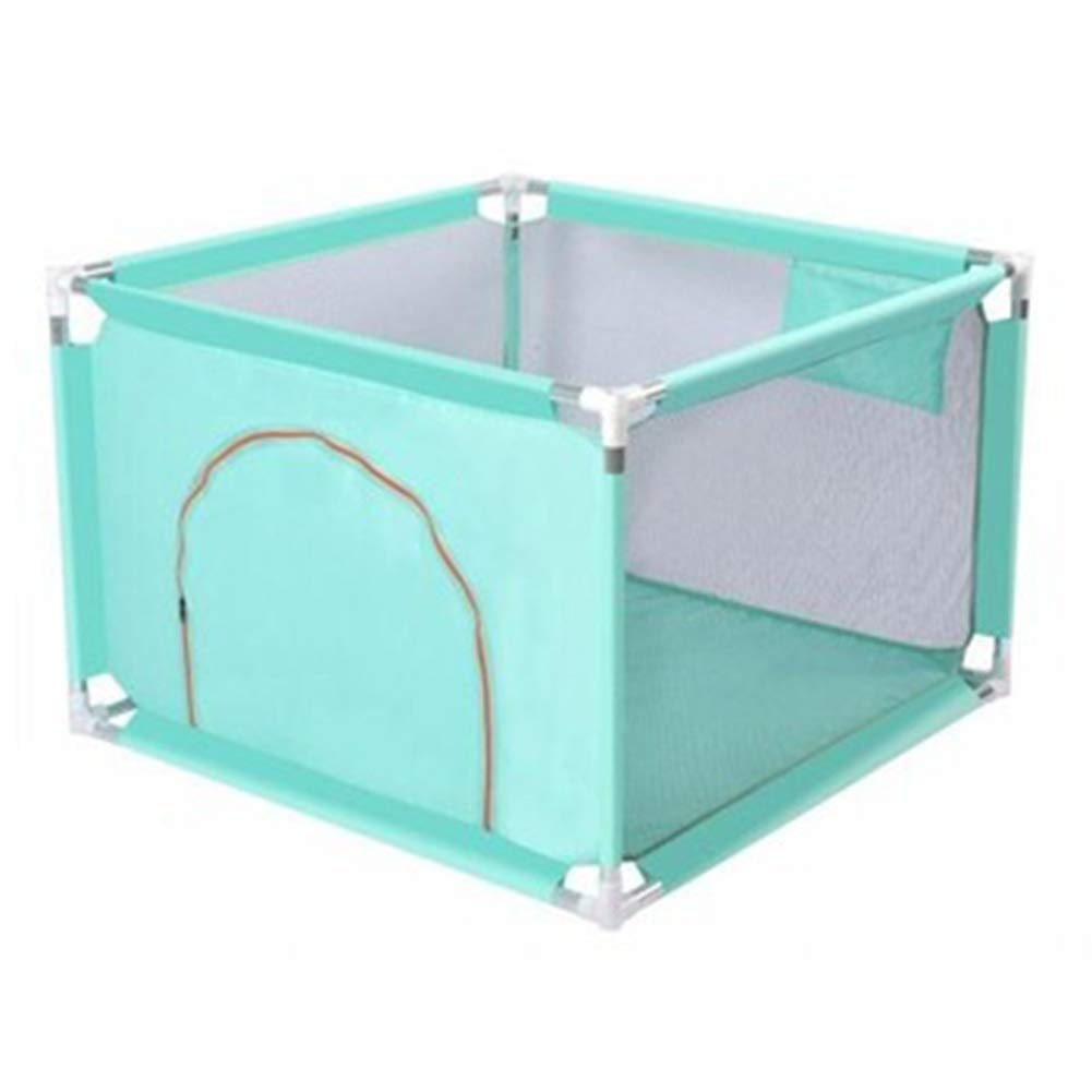 Green 100x100x68cm ZHANWEI Baby Playpen Portable Safety Infant Play Fence with Door, 68cm High, 3 colors (color   bluee, Size   100x100x68cm)