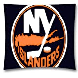 NHL Throw Pillow Cushion Covers, New York Islanders Square Decorative Throw Pillowcases, Pure Cotton, Bedding, Sofa, Couch, Size: 18x18 inches (45x45 cm) Ball Game Theme 4442