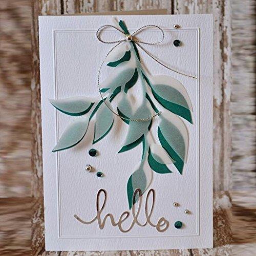 Tuu Metal Cutting Dies Stencil DIY Flower Cut Dies for Scrapbooking Album Paper Card Decor Craft (A)