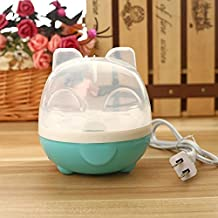 CoralTea Small Electric Egg Cooker/Boiler/Poacher with Removable Tray and Marked Measuring Cup-for Soft, Medium, Hard Boiled Eggs,Poached-Automatic power-off (Blue)
