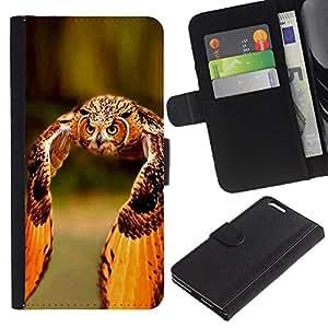 iBinBang / Flip Funda de Cuero Case Cover - Orange Wings Plumas verano - Apple Iphone 6 PLUS 5.5