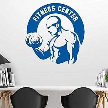 mmzki Etiqueta engomada del Gimnasio Fitness Mancuernas Crossfit Muscle Decal Body-Building Posters Vinilos de Pared de Vinilo Parede Decor Etiqueta de ...