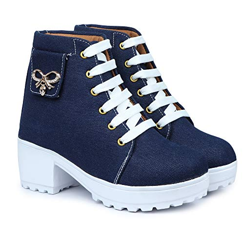HimQuen Women's Fashion Casual Outdoor High Heel Ankle Boot
