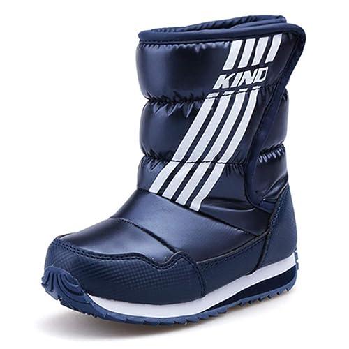 3f7914716 Invierno Cálido Impermeable Botas para niños Zapatillas de Deporte Niños  Nieve Zapatos al Aire Libre Niñas Casual Botas a Media Pierna  Amazon.es  Zapatos  y ...