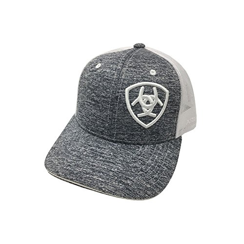 (ARIAT Kid's Youth Offset Logo Cap, Heather Grey, OS)