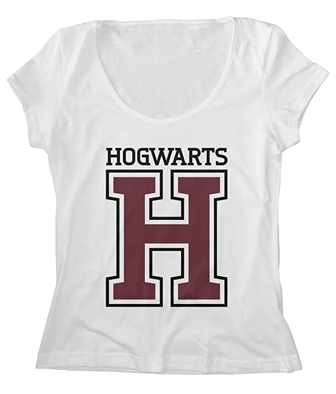 Harry Potter Hogwarts School Scoop Neck T-Shirt