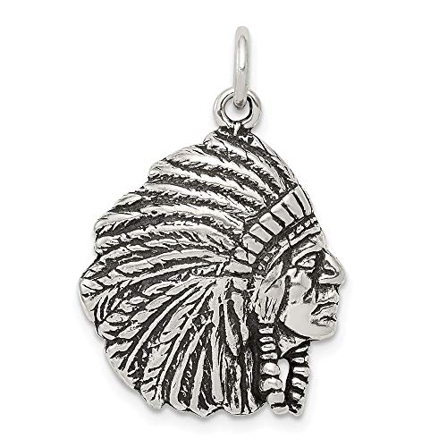 - 925 Sterling Silver Man Pendant Charm Necklace Western Fine Jewelry Gift For Dad Mens For Him