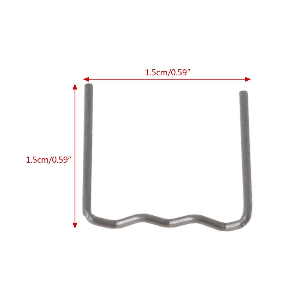 Yaonow 0.8/mm 100pcs pre-cut Hot Flat graffette a forma di onda plastica cucitrice riparazione saldatore strumento