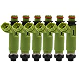 uxcell 160cc 4 Holes Fuel Injector for 98-03 Mitsubishi Montero Sport 3.0L 195500-3170 (Set of 6)