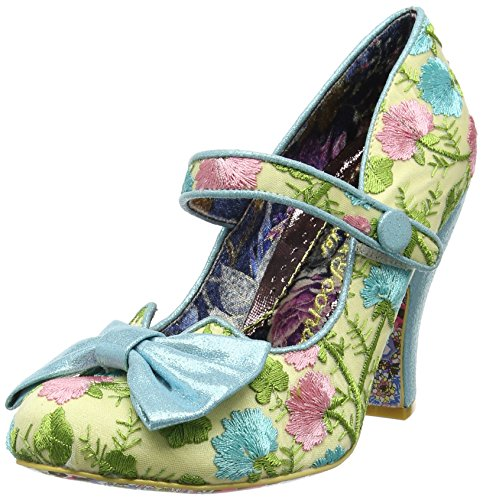 Irregular Choice Damen Fancy This Mary Jane Halbschuhe Blue (Blue Floral)