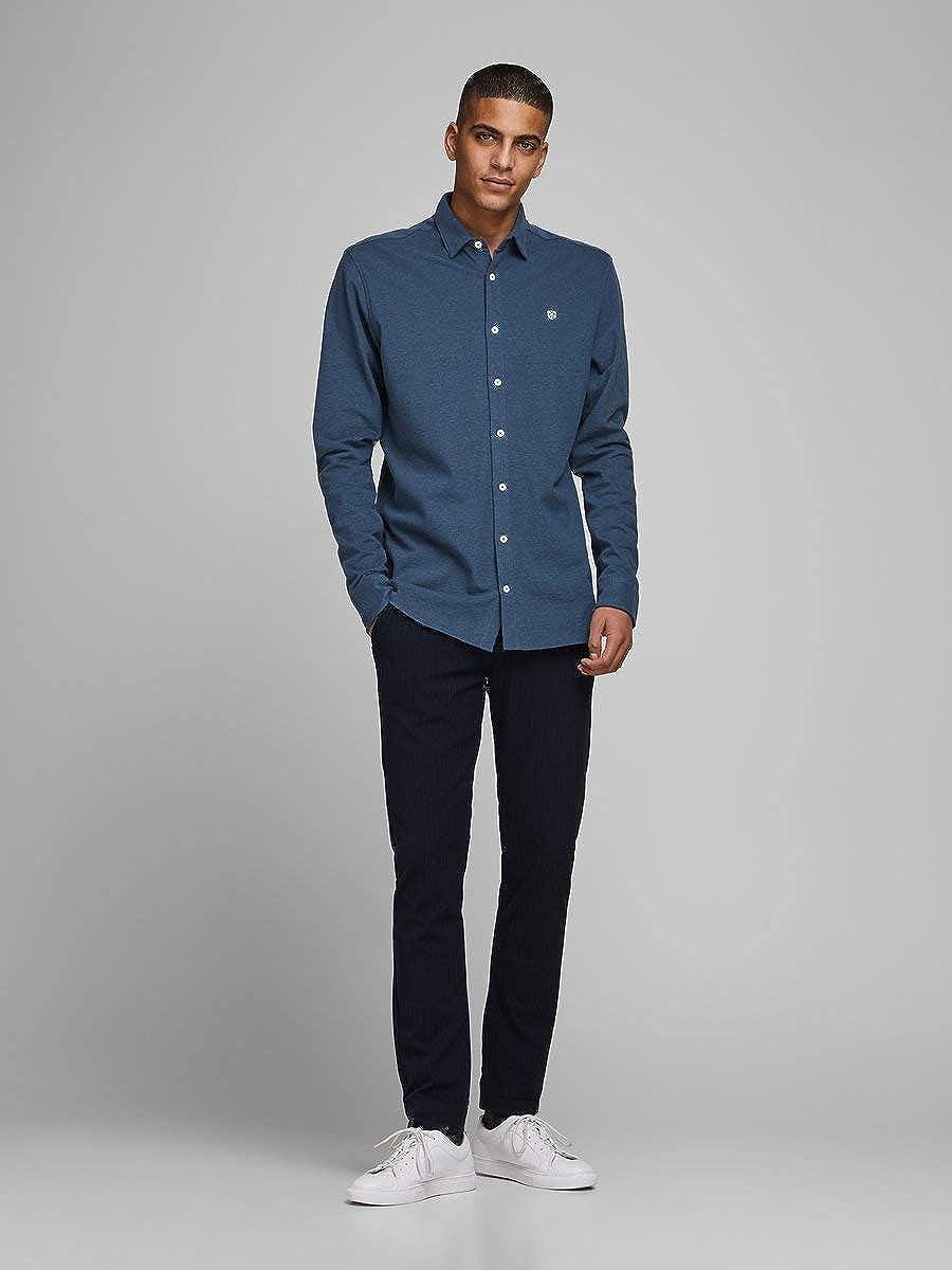 Jack /& Jones Jprtheo Bla Ls Jersey Shirt Chemise Homme