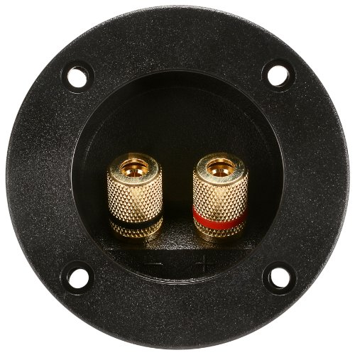 Parts Express Round Speaker Terminal Cup 2-15/16'' Gold Banana Binding Post by Parts Express
