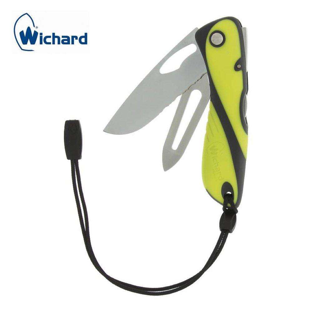 WICHARD - Couteau Offshore lame crantée et démanilleur - Bleu 70194