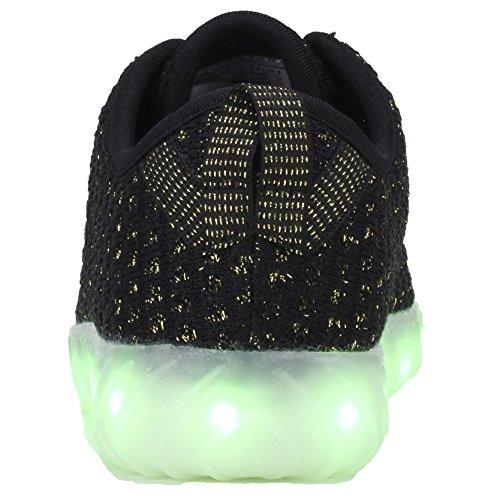 f10610c1f95640 COODO LED leuchten Schuhe für Frauen Kinder Mädchen blinkende Glitter  Turnschuhe Kleinkind   Kind   Frauen 4schwarz