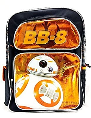 """Disney Star Wars The Force Awakens BB-8 Astro Droid 16"""" Canvas Orange Backpack"""