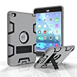 iPad mini 4 Case - Fisel Three Layer PC & Silicon High Impact Hybrid Drop Proof Armour Defensive Full Body Protective Case With Kickstand for iPad mini 4 7.9 Inch 2015 Model Tablet