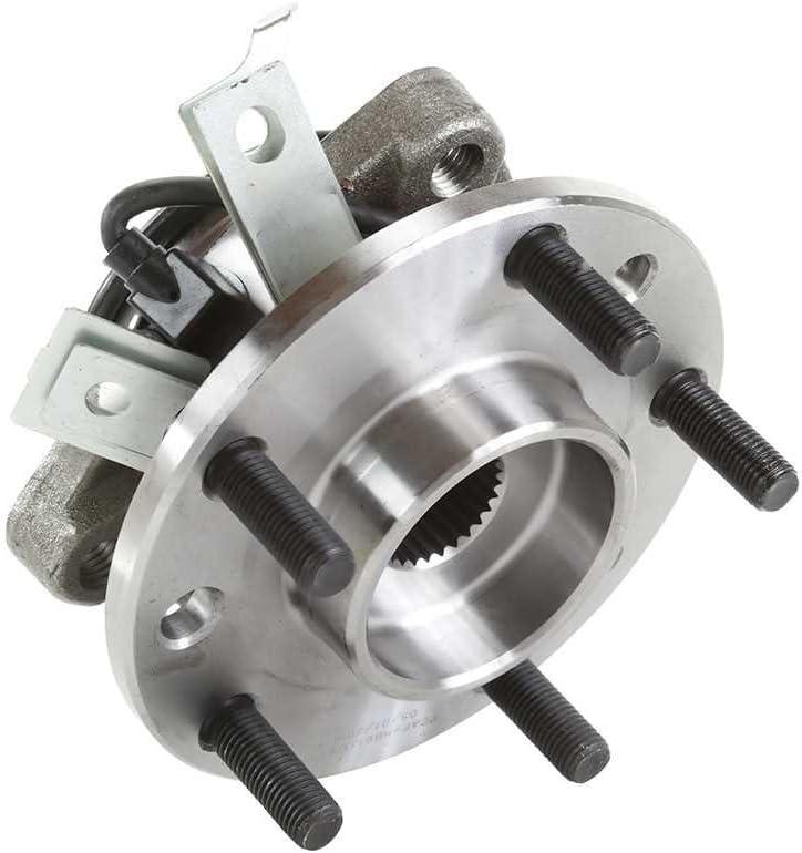 Auto Shack RHBBK0200 Set of 2 Brake Rotors Ceramic Pads and Hub Bearing Assemblies