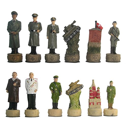 Yuandian Hand Painted Polystone WWII Eastern Front Chess Pieces