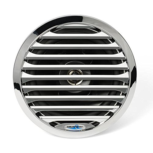 Aquatic AV PR 6.5 Pro-Series Chrome Marine Speaker 100W MAX, 50W RMS Chrome AQ-SPK6.5-4LC