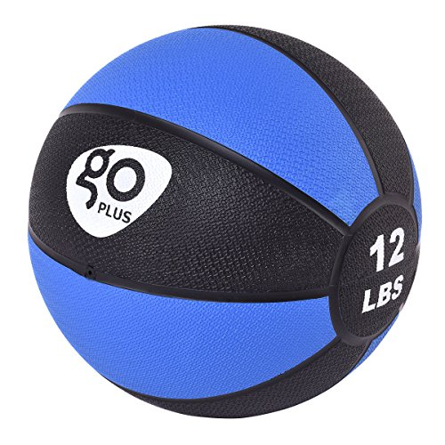 Goplus Fitness Weighted Medicine Ball for Wall Balance Training Muscle Build Workout, 12LBS
