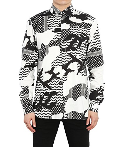 wiberlux-neil-barrett-mens-camouflage-point-collar-shirt-40-black