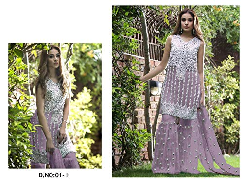 Bead Da Bollywood Ethnic 7151 Donna Gather Collezione Sposa Salwar Emporium Garara Work Kameez Musulmano Abito Full Designer Purple qAwZxzFqf