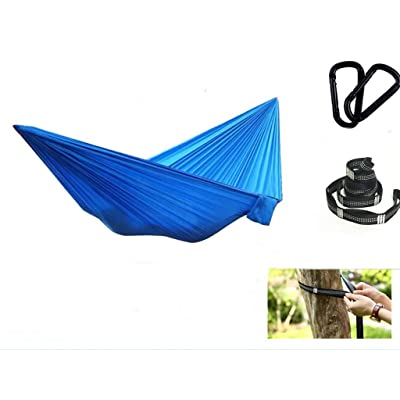 Outdoors Backpacking Survival or Travel Single Parachute Hammocks/Camping Hammock (Blue): Sports & Outdoors