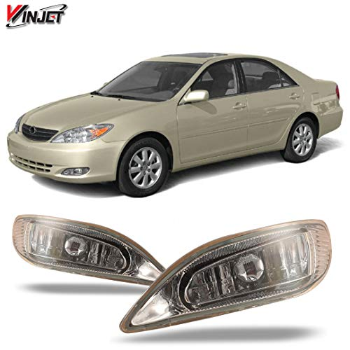 Winjet WJ30-0047-09 OEM Series for Toyota [2005-2008 Corolla] [2002-2004 Camry] [2002-2003 Solara] Clear Lens Driving Fog Lights + Switch + Wiring Kit ()