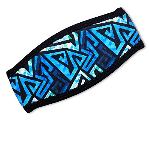 - Flow Scuba Gear - Neoprene Cover for Dive and Snorkel Mask Strap (Ocean Blue)