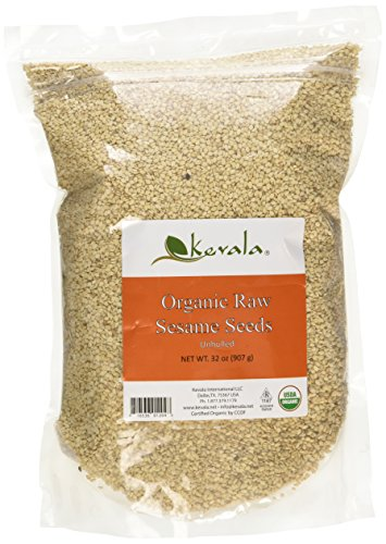 Kevala Organic Raw Sesame Seeds Unhulled, 2 Pound