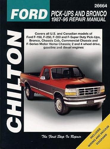 chilton s ford pick ups and bronco 1987 96 repair manual chilton s rh amazon com 1996 Ford F-250 1994 Ford F-250