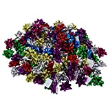 Iconikal 1-Inch Mini Holiday Bows, 6 Colors, 120-Count