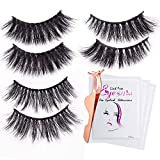 3D Fake Eyelashes-3 Styles Fluffy Eyelashes Reusable Naturally Handmade Soft Curl Luxury Fashion Fake Lashes With EyeLash Tweezers Makeup Tools For Women Ladies Girls (7 PCS)