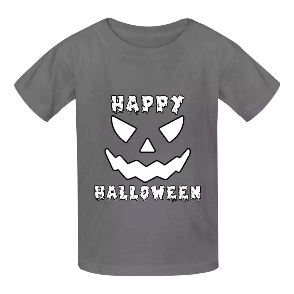 Dan-Wood Happy Halloween Scary Pumpkin Jack O Lantern Evil Youth Kids T-Shirts Cotton Fashion Graphic Print Tee