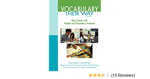 Words Their Way Vocabulary For Middle And Secondary