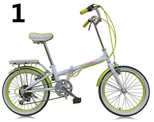 20インチ 折りたたみ自転車 折畳自転車 おりたたみ自転車MTB おりたたみ自転車W398 B00QA13C3K グリーン グリーン