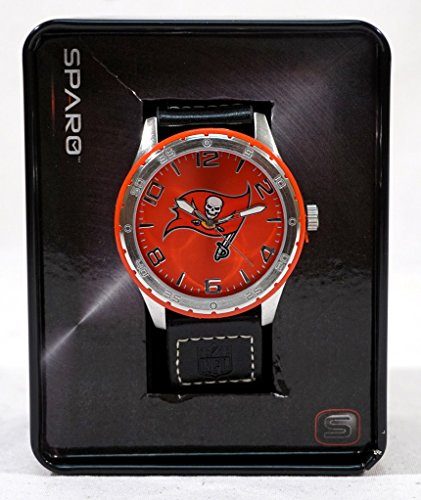 Tampa Bay Buccaneers NFL Logo Gambit Color Bezel Wrist (Buccaneers Sport Watch)