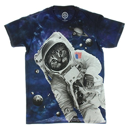 Astronaut Space Kitty Cat Graphic T-Shirt
