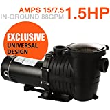 1.5 HP In Ground Pool Pump Motor, High-Flo, High-Rate, Replaces All Major Brands for Inground Pools
