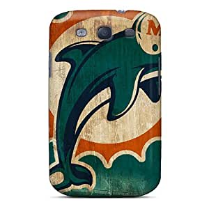 High Quality Mobile Cover For Samsung Galaxy S3 With Support Your Personal Customized Lifelike Miami Dolphins Pattern LisaSwinburnson WANGJING JINDA