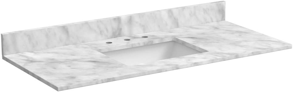 Foremost ST49228CWR 49 Inch Marble Vanity Top In Carrara White