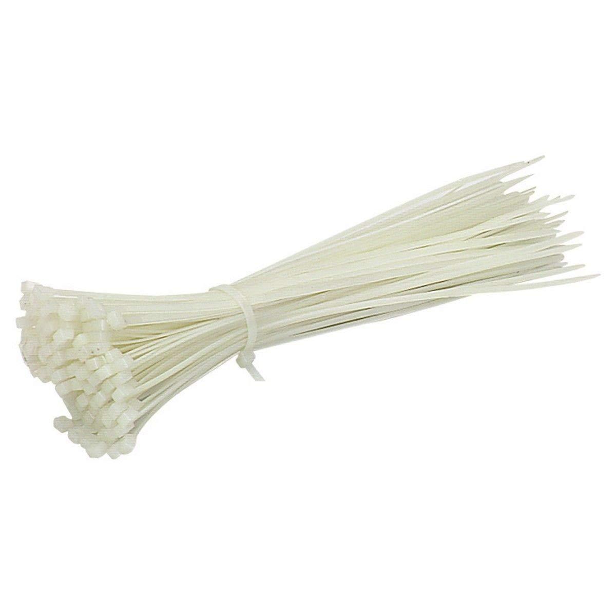 40 cm Extra largas Guilty Gadgets Color Blanco para jardiner/ía//fontaner/ía // Red//carpinter/ía // Maletero 100 Bridas de Nailon con Cremallera
