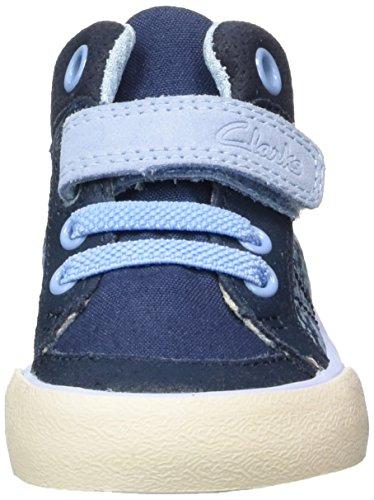 Clarks Juggle Kit Fst, Botines de Senderismo para Bebés Azul (Navy Textile)