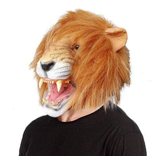 Aqkilo Lion mask Latex Animal Head mask Halloween Costume by Aqkilo