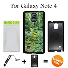 Buddha Quote Happiness Custom Galaxy Note 4 Cases-Black-Plastic,Bundle 2in1 Comes with Custom Case/Universal Stylus Pen by innosub