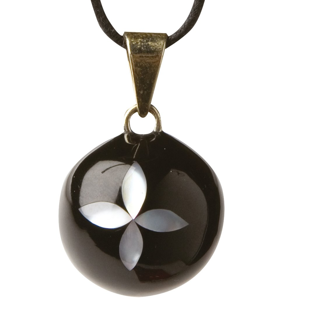 color negro Babylonia BVK270 Colgante con dise/ño de flor para embarazadas