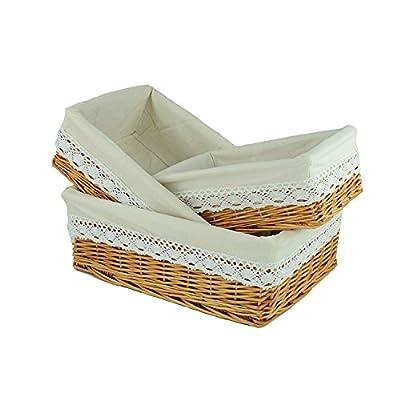 RURALITY Rectangular Wicker Woven Storage Basket with Liner?