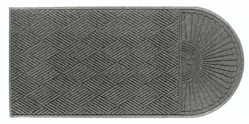 Waterhog Classic Floor Mat - M+A Matting 273 Waterhog Grand Classic Polypropylene Fiber Single End Entrance Indoor/Outdoor Floor Mat, SBR Rubber Backing, 5.5' Length x 3' Width, 3/8