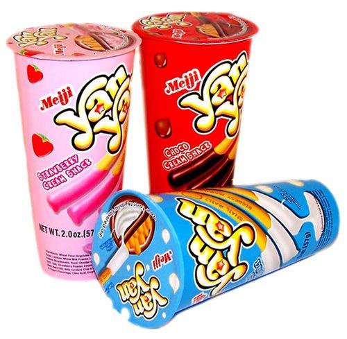 Meiji Yan Yan Cream Snack 3 Flavors Set ()